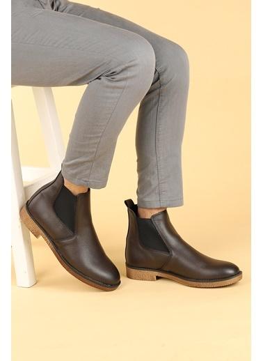 Ayakland Ayakland 5100 Cilt Termo Taban Erkek Bot Ayakkabı Kahve